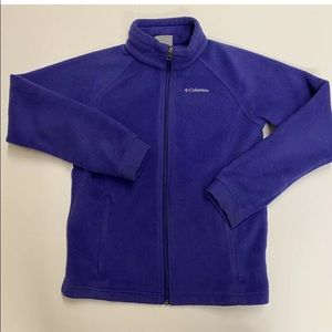 Columbia Women Fullzip Fleece Size Large Purple